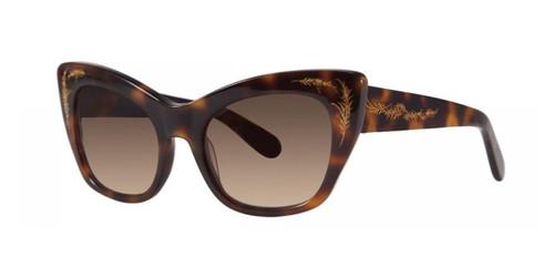 Tortoise Zac Posen Anna Sunglasses.