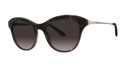 Black Satin Zac Posen Jolene Sunglasses.