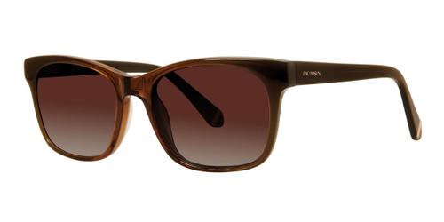 Brown Zac Posen Zora Sun Sunglasses.