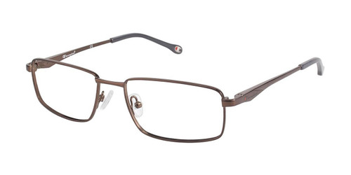 Dk Brown Champion 1001 Eyeglasses.