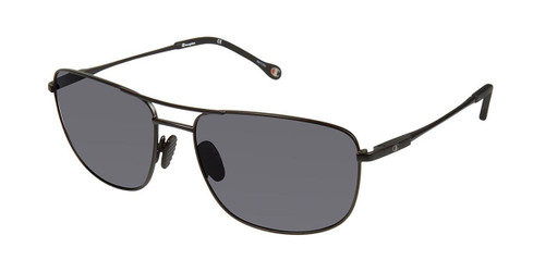 Black c01 Champion 6038 Extended Size Polarized Sunglasses.