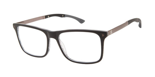 Black/Grey c01 Horn Champion Tril Eyeglasses.