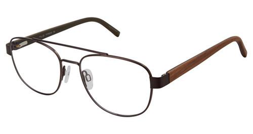 C02 Dark Brown Tlg NU033 Titanium Eyeglasses.