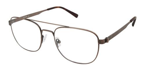 C02 Brown Tlg NU035 Titanium Eyeglasses.