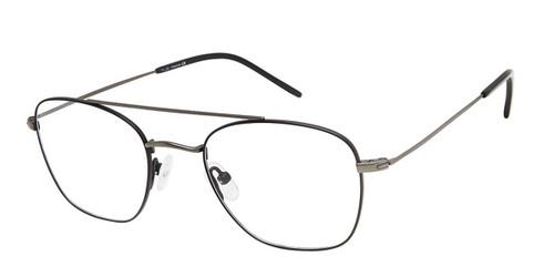C02 Black/Gunmetal Tlg NU036 Titanium Eyeglasses.