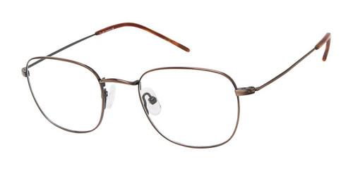 C03 Antique Brown NU039 Titanium Eyeglasses - Teenager.