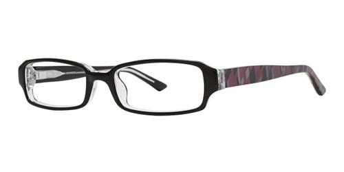 Black Kensie RX Geometric Eyeglasses - Teenager
