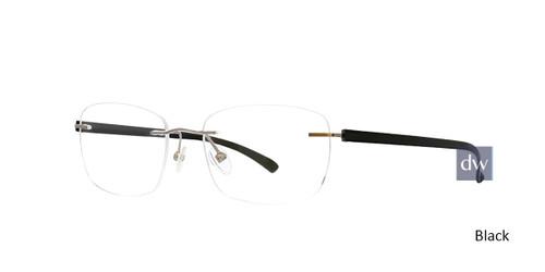 Black Totally Rimless 297 Accelerate Eyeglasses.