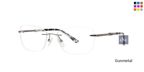 Gunmetal Totally Rimless 300 Halo Eyeglasses.