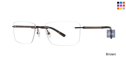 Brown Totally Rimless 302 Bypass Eyeglasses.
