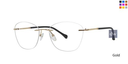 Gold Totally Rimless 303 Milano Eyeglasses.