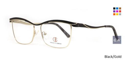 Black/Gold CIE SEC142 Eyeglasses.