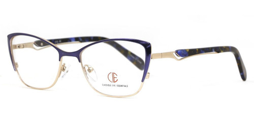 Blue/Gold CIE SEC143 Eyeglasses.