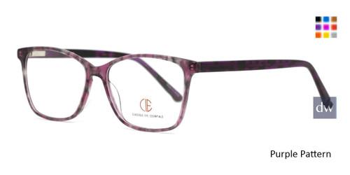 Purple Pattern CIE SEC144 Eyeglasses.