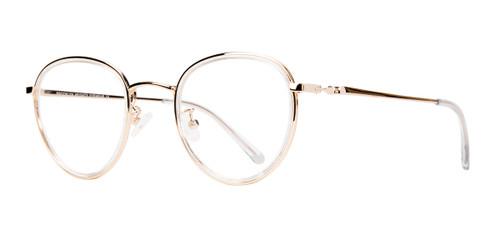 Gold Brooklyn Heights Utica Eyeglasses- Teenager