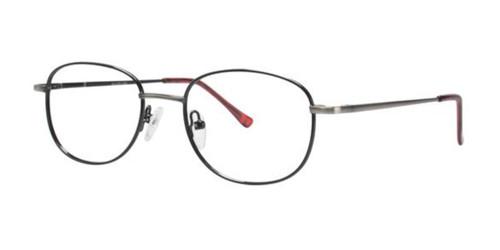 Silver/Black Gallery G521 Eyeglasses - Teenager