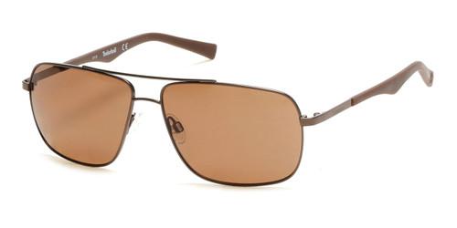 Satin Brown Timberland TB9107 Sunglasses.
