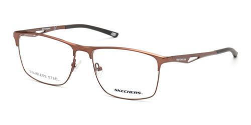 Matte Dark Brown Skechers SE3246 Eyeglasses.