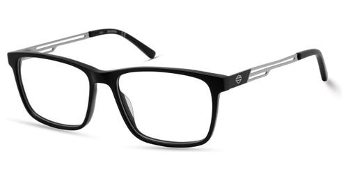 Shiny Black HARLEY-DAVIDSON HD0137T Eyeglasses.