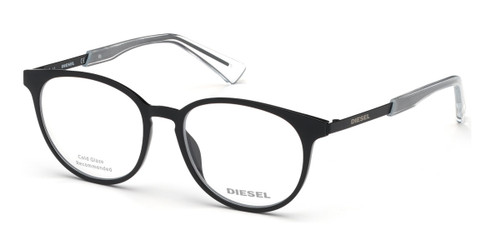 Shiny Black Diesel DL5289 Eyeglasses.