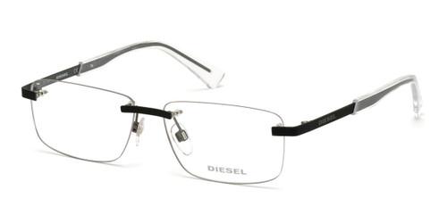 Matte Black Diesel DL5352 Eyeglasses.