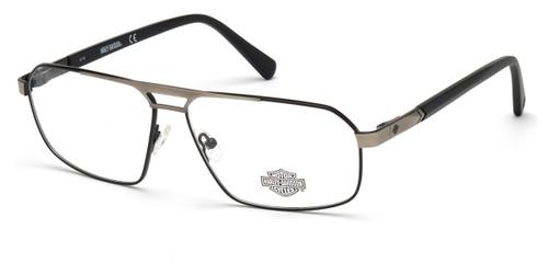 Shiny Black HARLEY DAVIDSON HD0809 Eyeglasses.