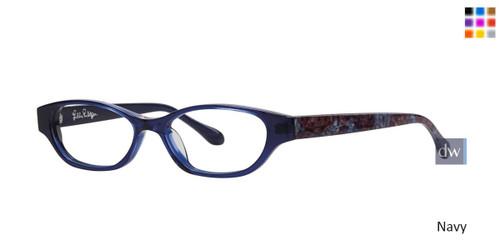 Navy Lilly Pulitzer RX Winnie Eyeglasses - Teenager
