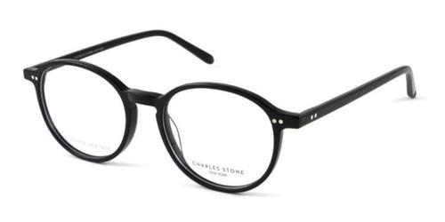 Black William Morris Charles Stone NY 30054 Eyeglasses