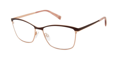 Brown/Rose Gold Brendel 902281 Eyeglasses.