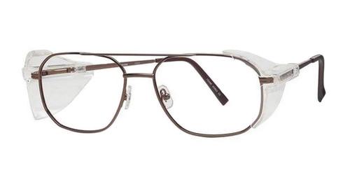 Dark Brown Wolverine W023 Safety Eyeglasses
