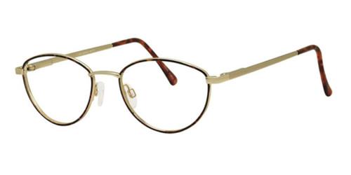 Matte Gold Blue Wolverine W010 Safety Eyeglasses