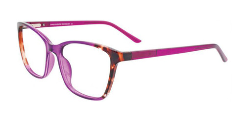 Purple Crystal & Demi Brown Cargo C5048 Eyeglasses.