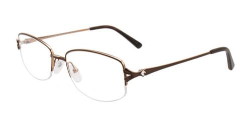 Satin Brown/Gold Pentax PX907 Eyeglasses