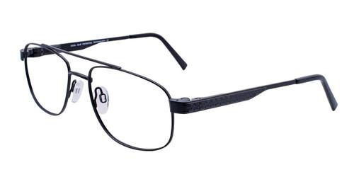 Satin Black Cool Clip CC832 Eyeglasses.