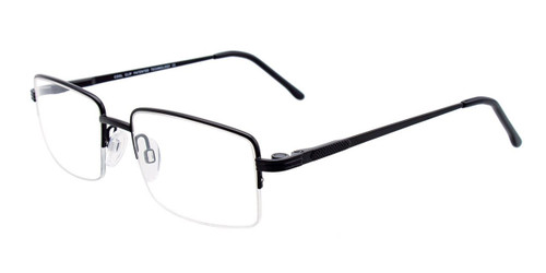 Satin Black Cool Clip CC833 Eyeglasses.