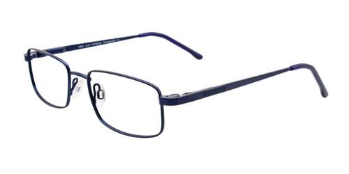 Satin Dark Blue Cool Clip CC834 Eyeglasses - Teenager.