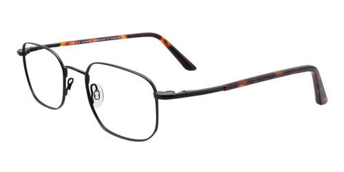 Satin Black Cool Clip CC836 Eyeglasses.