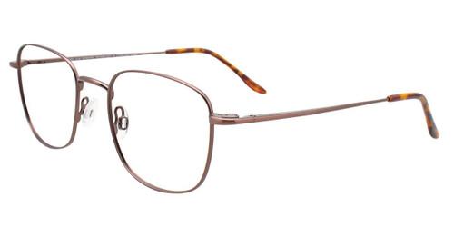 Satin Brown Cool Clip CC837 Eyeglasses.