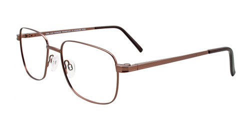 Satin Brown Cool Clip CC838 Eyeglasses.