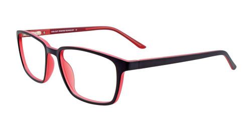 Black Red Cool Clip CC843 Eyeglasses.