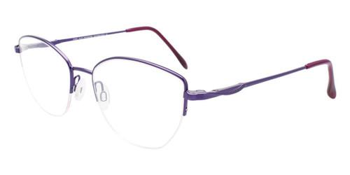 Satin Purple Cool Clip CC846 Eyeglasses.