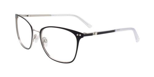 Matt Black & Silver Clip & Twist CT267 Eyeglasses.