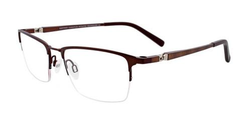 Matt Dark Brown Clip & Twist CT241 Eyeglasses.