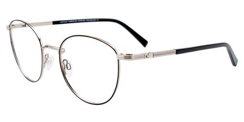 Satin Black/Shiny Silver Easy Clip EC547 Eyeglasses - (Clip-On).