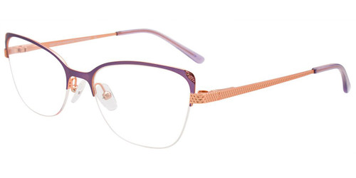 Matte Light Purple/Matte Light Pink Easy Clip EC539 Eyeglasses - (Clip-On).