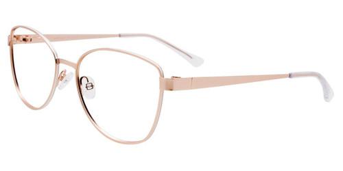 Satin Gold/White Easy Clip EC534 Eyeglasses - (Clip-On).
