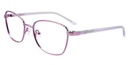 Satin Light Purple Easy Clip EC535 Eyeglasses - (Clip-On).