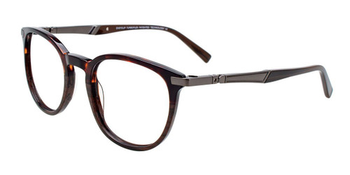 Dark Demi Brown/Marbled Brown Easy Clip EC524 Eyeglasses -Teenager - (Clip-On).
