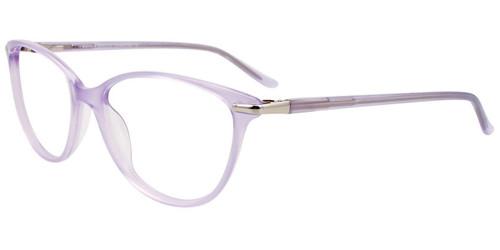 Lilac/Silver Easy Clip EC504 Eyeglasses - (Clip-On).