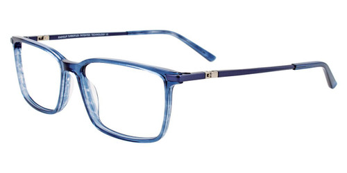 Blue Marbled Easy Clip EC512 Eyeglasses - (Clip-On).